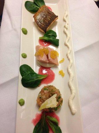 Mayers Bar & Restaurant: 3erlei vom Saibling, Tatar, gebraten & geräuchert