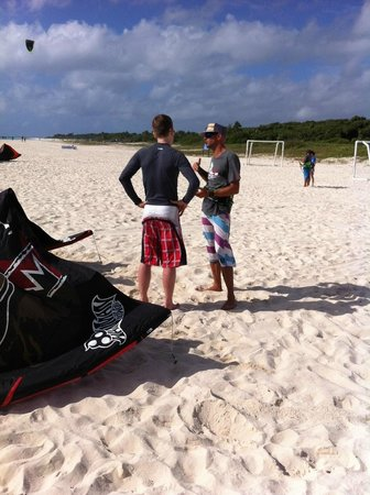 PDC Kiteboarding School and Water Sports Center: Learning on the beach