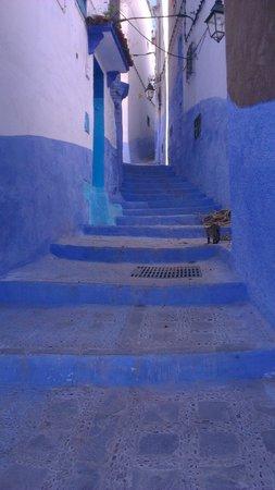 Dar Gabriel: Street in Chefchaouen