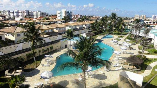Del Mar Hotel: Área da piscina vista do quarto