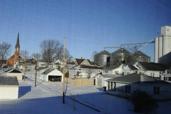 The Willows: Farm town view out back