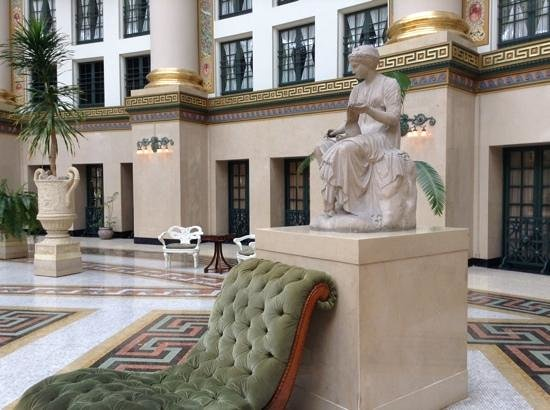 West Baden Springs Hotel : Caliope the Muse in the atrium of the hotel.