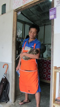 """Orange Place: The chef/owner and her """"baby"""""""