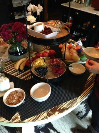 Made INN Vermont, an Urban-Chic Bed and Breakfast: Pre-Breakfast Spread