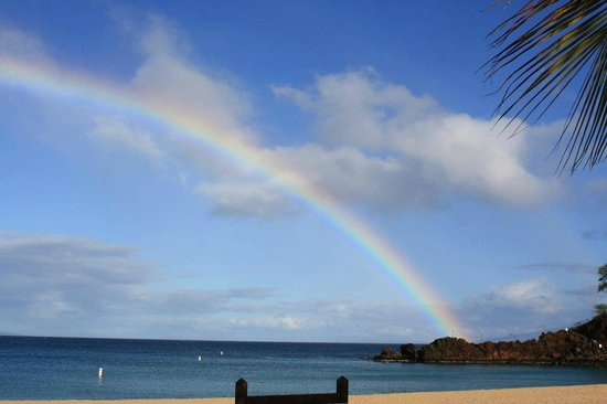 Royal Lahaina Resort : A perfect rainbow the first day there!