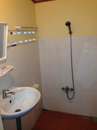 Viet Thanh Resort: lavabo et douche