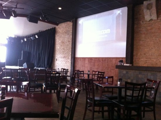 Rogue Tavern: Interior with stage and one screen