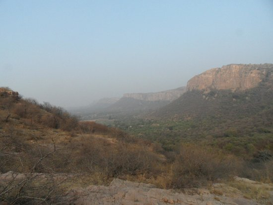 Ranthambore National Park: View from the top of the mountains