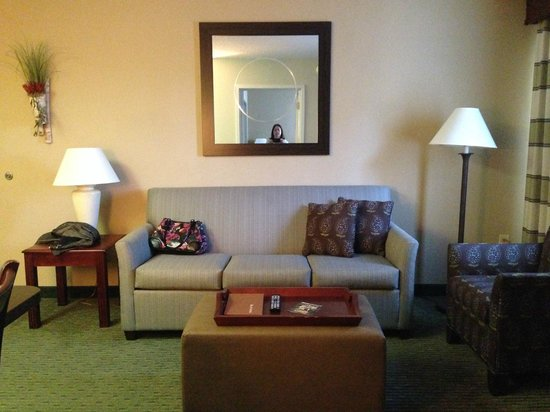 Homewood Suites Orlando-Maitland: Another view of the living room