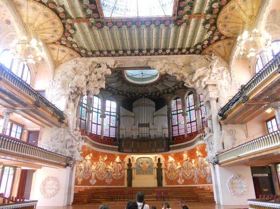 Palais de la Musique Catalane (Palau de la Musica Catalana) : Vista de la sala