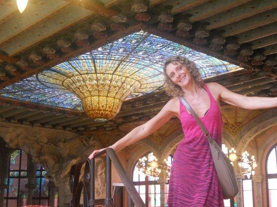 Palau de la Musica Orfeo Catala: Techo de la sala