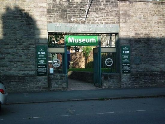 The Regimental Museum of The Royal Welsh (Brecon): the museum from the front...