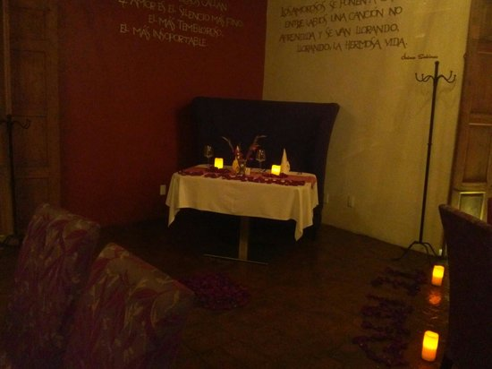 Restaurante El Secreto : El rincón de los amorosos