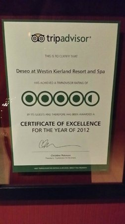 deseo at Westin Kierland Resort and Spa: accurate rating
