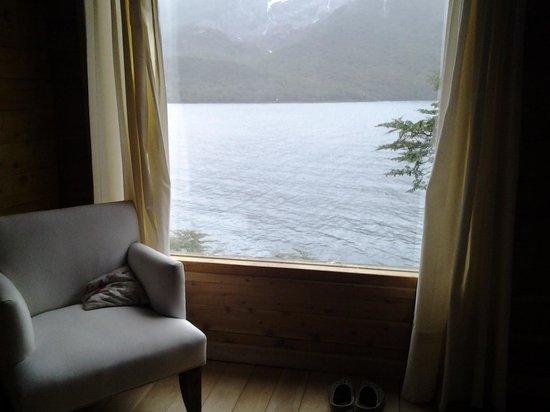 Aguas Arriba Lodge: vista de la ventana de nuestro cuarto