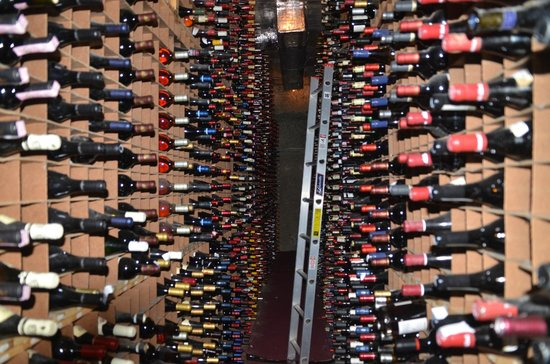 Bern's Steak House: Some of the 100,000 bottles in the wine cellar