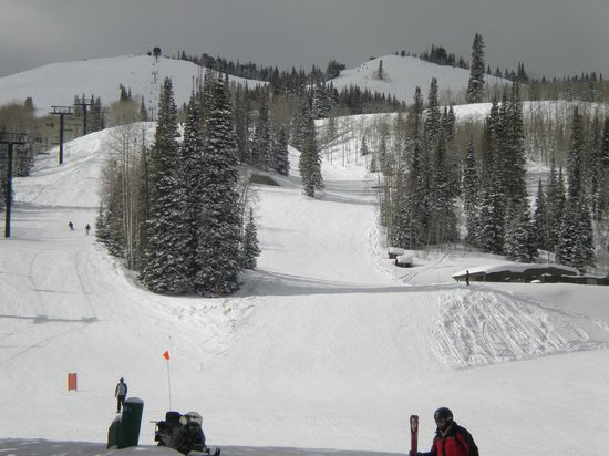 Deer Valley Resort: looking up from the bottom of Empire