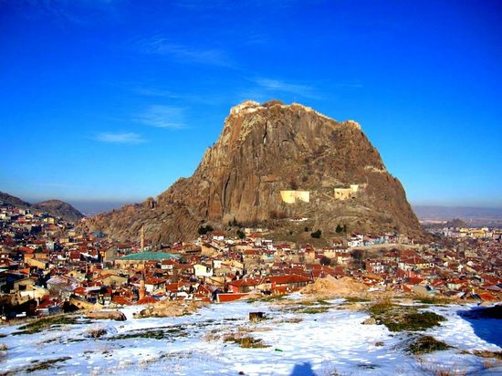 Afyonkarahisar, ตุรกี: Uzaktan Karahisar kale tepesi