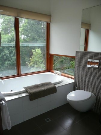 Montville Oceanview Cottages: Spa bath