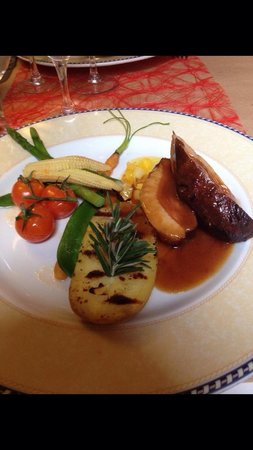 Fenetre Sur Cour : Filet d oie , jeunes légumes .