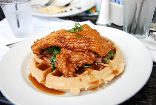 Chicken & Waffles - Picture of Ralph Brennan\'s Jazz Kitchen, Anaheim ...