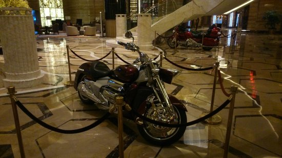 Grand Parkray Hangzhou: the motorcycles in the lobby