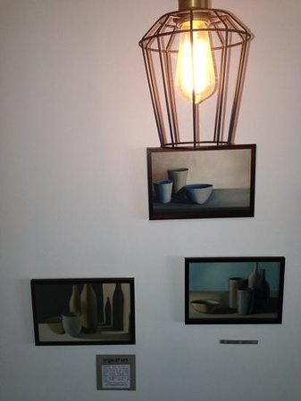 Kettles On Cafe: local artwork on display