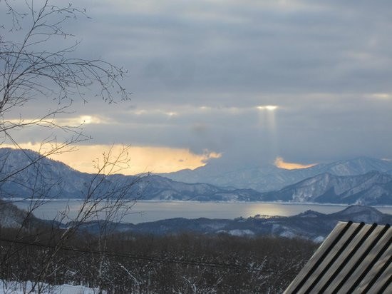 Hutte Birke : View of Lake Tazawa from our room