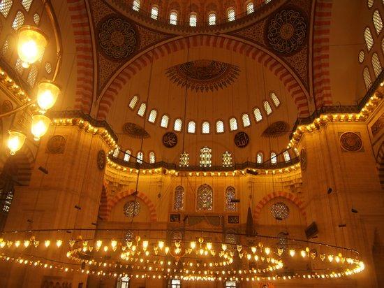 Mezquita de Suleiman o Mezquita de Süleymaniye: 内部