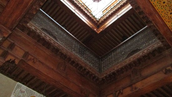 Riad Benchekroun : View upward from Breakfast Room