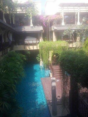 Burasari Resort: View from Elite room, overlooking pool in the new wing
