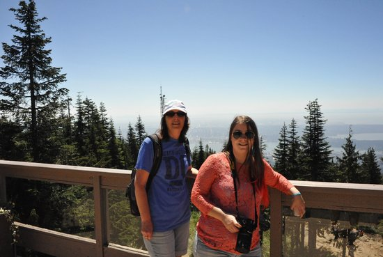 Grouse Mountain: Me and my Mum in front of the view.