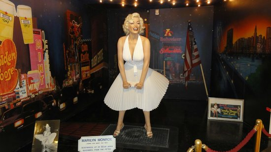 Marilyn Monroe features at the sex museum in Amsterdam