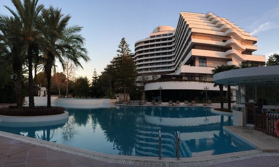 Rixos Downtown Antalya: View of hotel across the pool