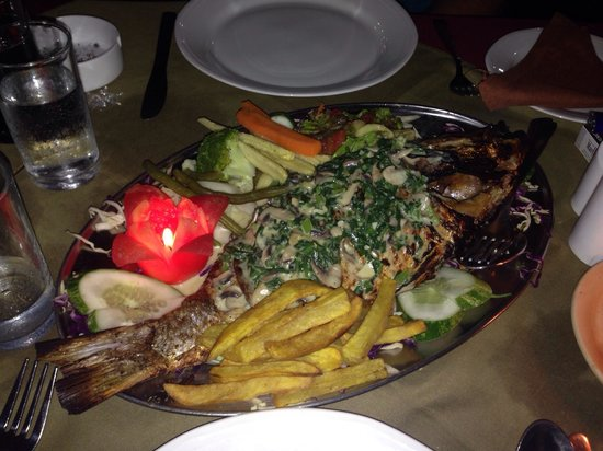 Delicious snapper at The Pavilion..YUM :) !!