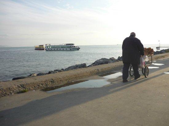 Star Hotel Istanbul: De broodjesman langs de Bosporus ( is de hele dag op pad ).