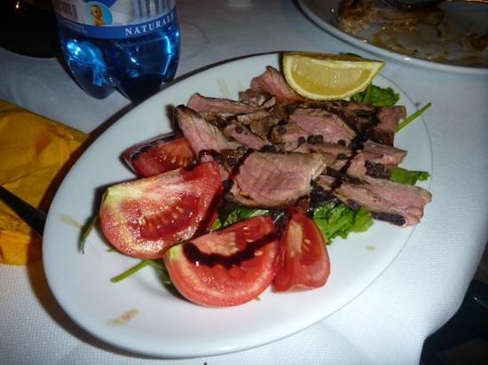 Il Casale del Cotone: mouth watering wild boar. Alessandro's cooking!