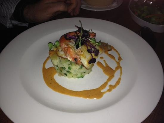 Graze: turbot with lobster bisque.