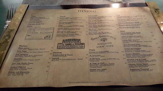 Balique Restaurant: Balique - Menu