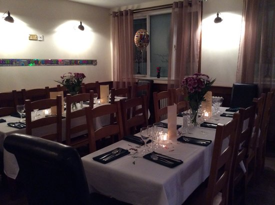 Firm of Eden Restaurant: Tables set for a Party
