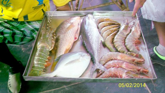 Baga Beach : FISH AT CAPTAINS CABIN