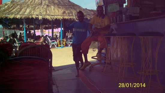 Baga Beach : NUMBER THEE IN YELLOW FOUR IN BLUE