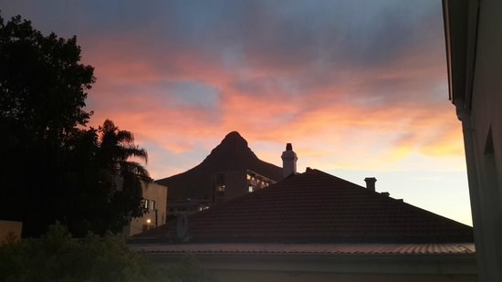 AfricanHome Guesthouse: Blick vom Obergeschoss