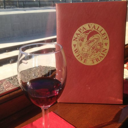 Napa Valley Wine Train: Wine list, nice presentation