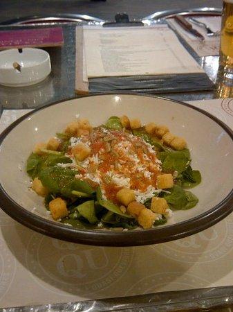Restaurante Qu-Qu : Fresh spinach salad