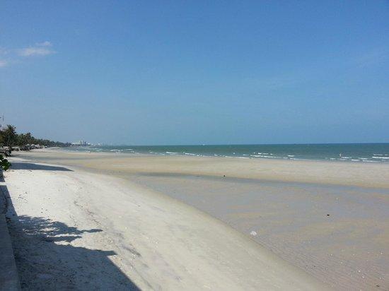 Oceanside Beach Club & Restaurant: View of quiet beach from Oceanside
