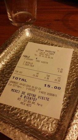 Chez Suzette: conto salatissimo