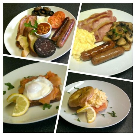 Burleigh House: Full Cooked Breakfast / Gluten Free / Smoked Salmon