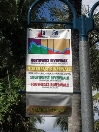 Riverwalk Fort Lauderdale: Riverwalk Banner