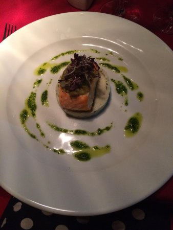 Waterside Restaurant & Bar: Divine salmon and herb mash with pine nut pesto
